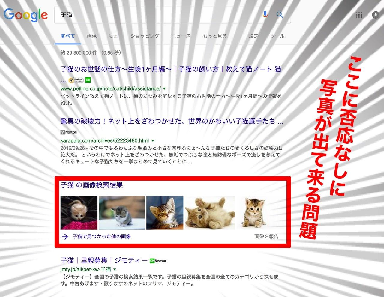 Googleの関連画像が自動で表示される件(深刻)
